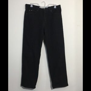 38x32 Lee Black Relaxed Fit Jeans